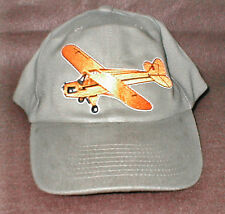 J3 CUB Airplane Aircraft Aviation Hat With Emblem Low Profile Style Khaki