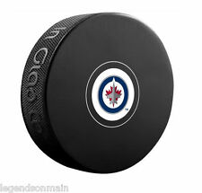 Winnipeg Jets NHL Unsigned Team Logo Puck  Great For Autographs !