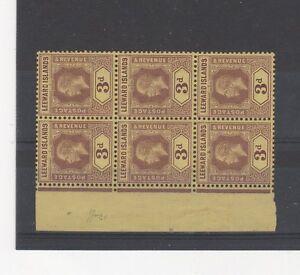 Leeward Islands 1920 3d UM block of 6