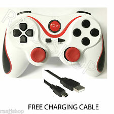 RECHARGEABLE HIGH QUALITY BLUETOOTH WIRELESS GAMEPAD CONTROLLER FOR PS3 WHITE RD