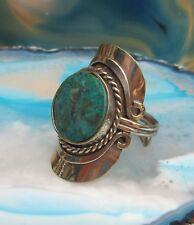 Stile 29 ~ Anello Alpaca Argento Crisocolla Verde Pietre Etnico Inca Maya