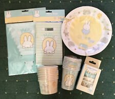 SET Miffy Baby Party Stationery / Tableware - Plates Banner Cake cases Cups