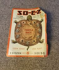 So-E-Z Turtle Back Snaps Fasteners 7/12 On Card Size 2/0 Rust Proof -Usa Made!