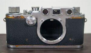 Vintage 1950 Leica IIIc Model F 35mm Film Camera s/n 306960