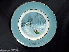 1976 Avon Christmas Plate Series Bringing Home The Tree 3Rd Ed Enoch Wedgwood