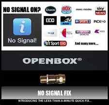 No Signal Fix Openbox Libertview Skybox S Box F3 F4 F5 F5s V5s V8 V8s S9 S11 S12