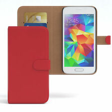 Tasche für Samsung Galaxy S5 Mini Case Wallet Schutz Hülle Cover Rot