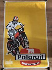 Ancienne Affiche Huile Polaroil 1970 Old Poster No Copy Vintage Print Moto