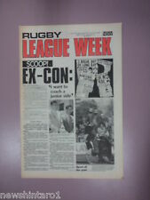 #T107. RUGBY LEAGUE WEEK NEWSPAPER  4/6 1977, PARRAMATTA &  ST. GEORGE  CENTRE