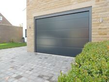 MODERN DESIGN SECTIONAL GARAGE DOOR WHITE INSULATED 40MM DOUBLE WIDTH NOT ROLLER