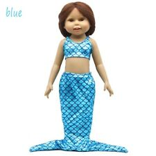"""Mermaid Tail Dress for 18""""American Girl Our Generation Doll 18 inch Doll Clothes"""