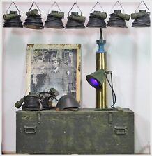 Militär Lampe Industrie Leuchte Spot AKA Lost Places Blaues Licht Vintage