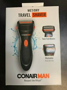 New Conair Man Travel Shaver Wet/Dry SHV22R