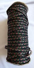 VTG 8mm Tapestry Jacquard Trim Ribbon 150 yd Spool Black & Pink Floral
