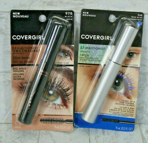 2-Pack Covergirl Exhibitionist Mascara #970 Black and #940 True Blue