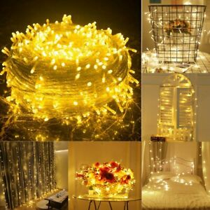 100M 500LED Warm White Lights Indoor Fairy Lights for Christmas Wedding Party