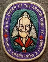 1981 NOAC Pocket Patch - First a Spark Now A Flame  Boy Scouts of America BSA/OA