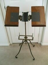 Antique L. W. Noyes Chicago Adjustable Cast Iron Bible/Dictionary/Music Stand