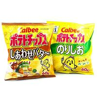 CALBEE POTATO CHIPS Seaweed & Salt / Happy Butter / Pizza Potato by Calbee Japan