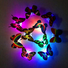 Beautiful Butterfly Colorful Changing LED Night Light Lamp Home Room Wall Decor