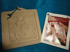 BROWN BAG PAPER ART 1995 HILL DESIGN POPPIES FLOWER CASTING MOLD GREETING CARDS