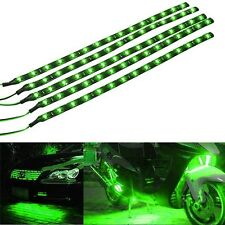 Universal Lot 4 Green Super Bright 15LED 30CM Motorcycle Grill Flexible Lights