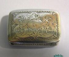 Victorian Sterling Silver Vinaigrette Box Nathaniel Mills Birmingham 1840