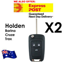 2x Holden Barina Cruze Trax 3 Button Remote Flip Key Blank Shell Case Enclosure
