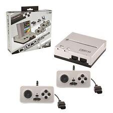 RETRO BIT NES CONSOLE a 8 bit Top Loader Nero / Argento ✔ everdrive N8 compatibile ✔