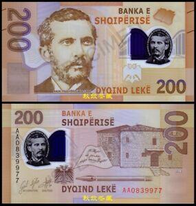 Albania 200 Leke (2019), AA First Prefix, Polymer, UNC
