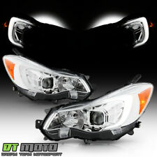 2012-2015 Subaru Impreza 13-16 Crosstrek Chrome Led Tube Projector Headlights (Fits: Subaru)
