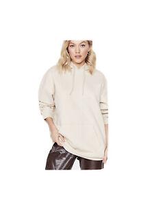 Nasty Gal Petite Oversized Hoodie Sweatshirt Colour Sand Size L