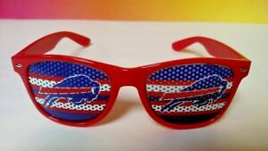 NEW One Buffalo Bills NFL Football Red Blue Independent Health Logo Sun Glasses