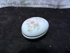 Limoges Egg Floral Design - Trinket Box - Looks Great - Unusual Find