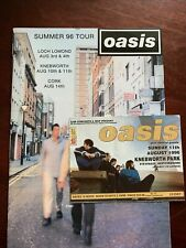 More details for used oasis knebworth ticket sunday 11th august 1996 and summer tour programme