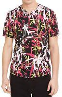 INC Mens Shirt Black Size Medium M Graphic Graffiti Tee Short Sleeve $29 #101