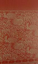 Melody Jane Dolls House Peacocks Red Gold Miniature Print 1:12 Scale Wallpaper