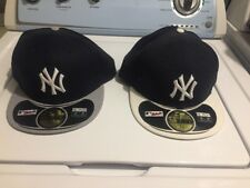 Lot Of 2 New Era Cap 59FIFTY New York Yankees Hat Fitted 5950 Diamond ERA