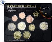 Deutschland Dresdner Zwinger 2016 Stempelglanz 1 Cent bis 2 Euro Mzz D im Satz