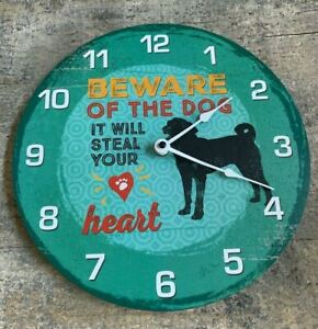 Beware of Dog It Will Steal Your Heart Wall Clock, Free Shipping
