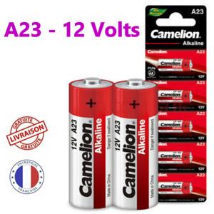 Pile 23A 12V Camelion A23 LRV08 V23GA MN21 alcaline 12 volts lot de 1 2 5 piles