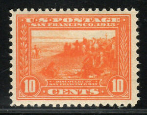 1913 US SC 400A 10c Orange Pan Pacific Expo San Francisco Bay Discovery MNH Gem