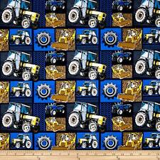 Construction Zone Machinery Patch Cotton Fabric David Textile By the Yard  Bfab