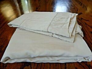 Frette Cotton Patterned Tan Floral King Top Sheet 2 Shams Pillow Cases!