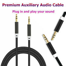 3.5mm Braided Male to Male Stereo Audio AUX Cable Cord For PC iPod CAR Phone Hot