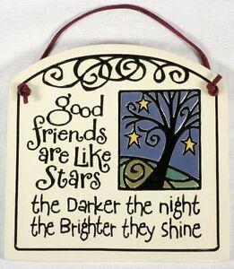 """Spooner Creek Art, Ceramic Wall Hanging """"Good Friends"""""""