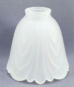 Vintage Vanity or Ceiling Fan Frosted Glass Replacement Shade