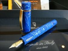 Delta Galleria Ocean Blue  Gold/Silver Clip 18K  Fountain Pen