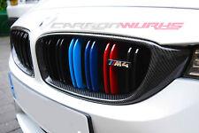 BMW M4 M3 Carbon Fibre Grille with M TriColours 4 series F82 F83 Fiber Grill F32