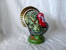 Ino Schaller Germany THANKSGIVING TURKEY GERMAN PAPER MACHE CANDY CONTAINER